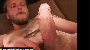 Blonde hairy redneck jackoff - RoughHairy.com