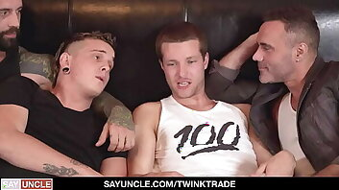 Cute Teens Harvey Sin And Edward Terrant Pay Their Dads Debt
