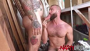 NASTYDADDY Tattooed Jack Dixon Barebacks Donnie Argento
