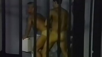 Correctional client viking queen Scott Hogan washes the floors in the aisle for dangerous special offender at night and he has to rub Mexican code-bound criminal Rod Garetto up the right way