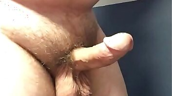 Chubby Guy Playing With His Dick and Balls