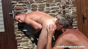 Grandpa cleans up Twink's Steamed up Ass Hole